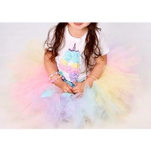 Other - 🌷BOUTIQUE 4th Birthday 🦄 Shirt & Tulle Tutu 👗